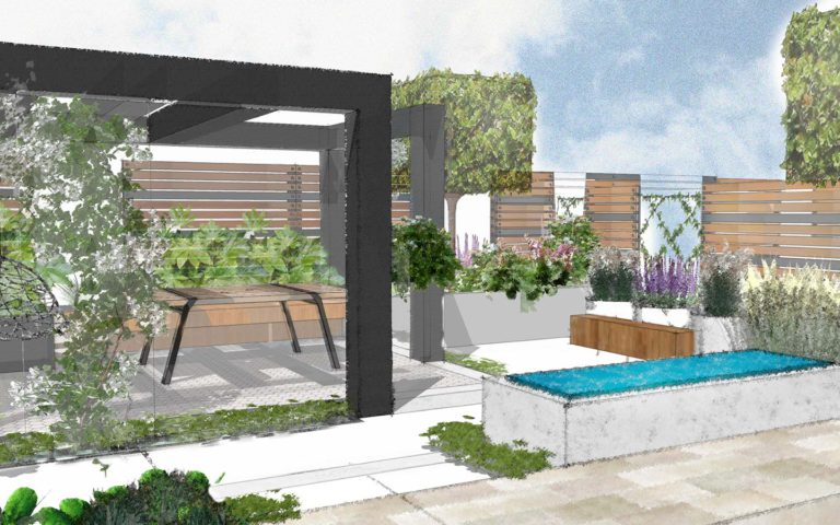 St Albans-proposed view of the garden
